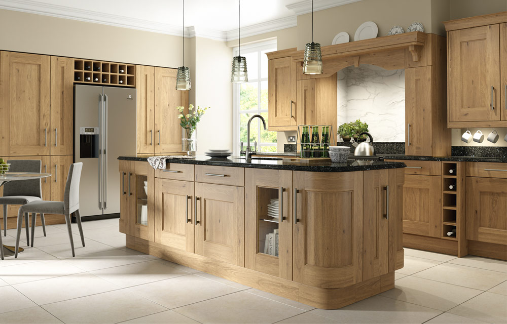 oak kitchen island rustic oak shaker kitchen collection or painted 14401