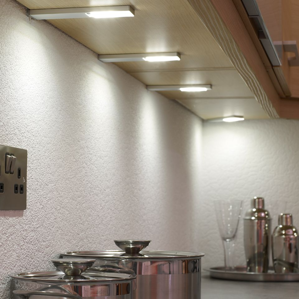 kitchen under cabinet lighting led quadra plus led cabinet light 22099