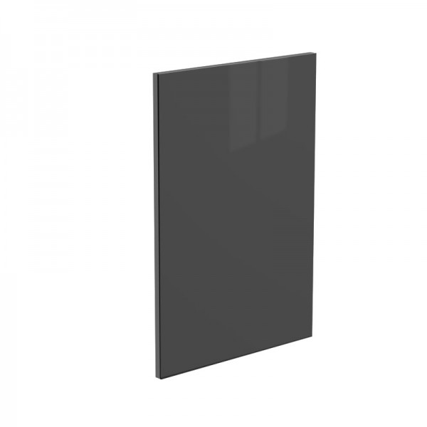 Jet Black High Gloss Glass Kitchen Door