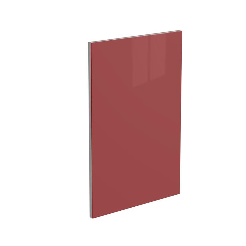 Red High Gloss Glass Kitchen Door