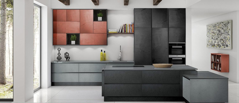 Metal Kitchens Bronze Copper Steel Kitchen Doors