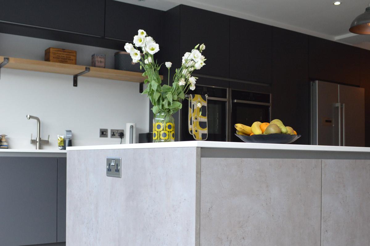 Concrete Style Kitchen Doors