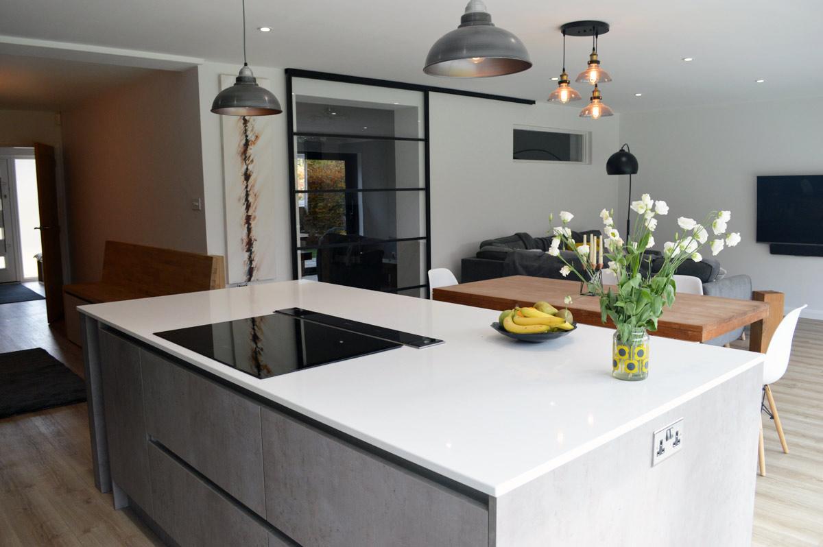 Modern Kitchen Installation in London - Dark Grey Matt and ... on Modern Kitchens  id=25864