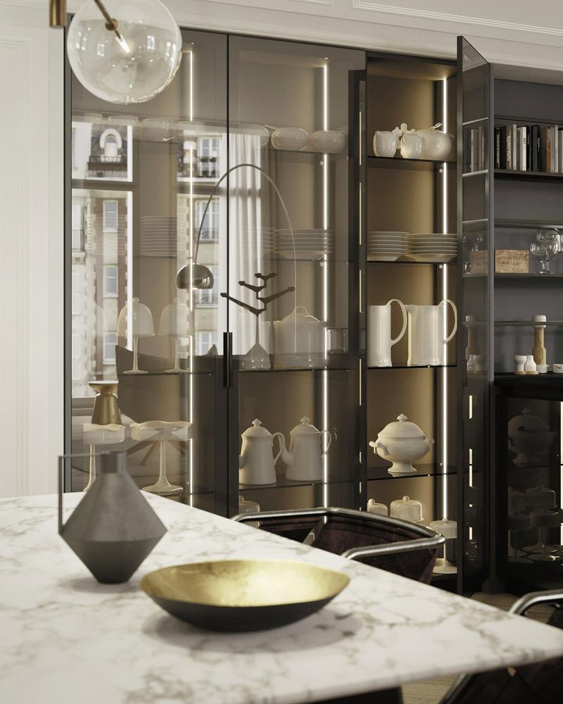Tall Glass Kitchen Doors Italian Kitchen With Full Glass Doors Tinted Glass Kitchen Doors