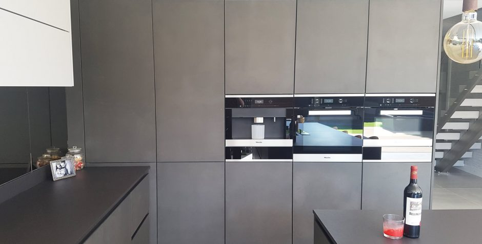 concrete kitchen cabinets concrete and light grey modern true handleless 13787